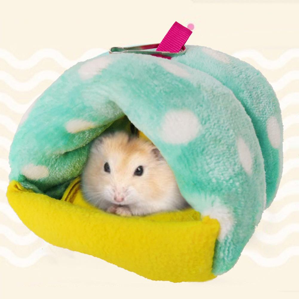 1PC Hamster Bird Hedgehog Guinea Pig Squirrels Warm Cute Nest Small Animal Soft Bed Washable House Pet Supplies