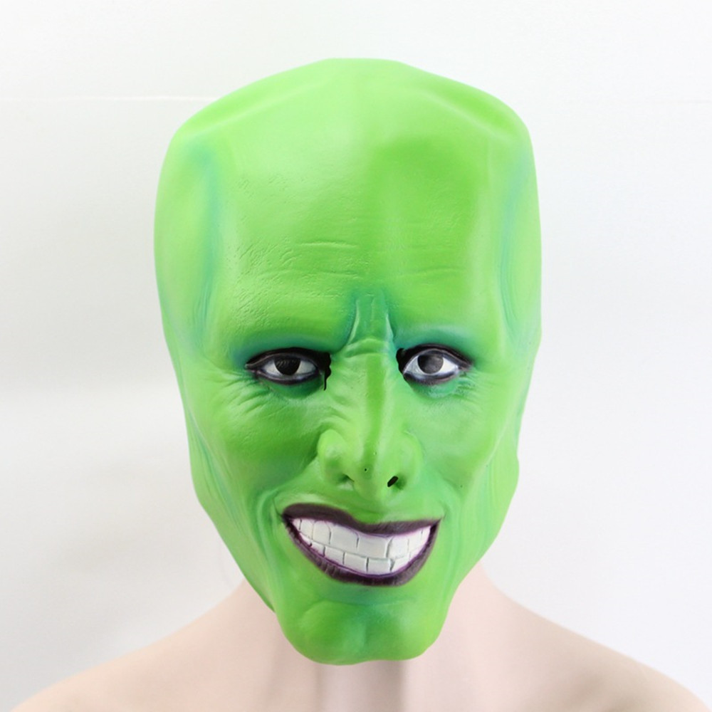 The Jim Carrey Movies Mask Latex Green Adult Party Mask Costume Cosplay Fancy Dress Halloween Masquerade Full Head Mask image