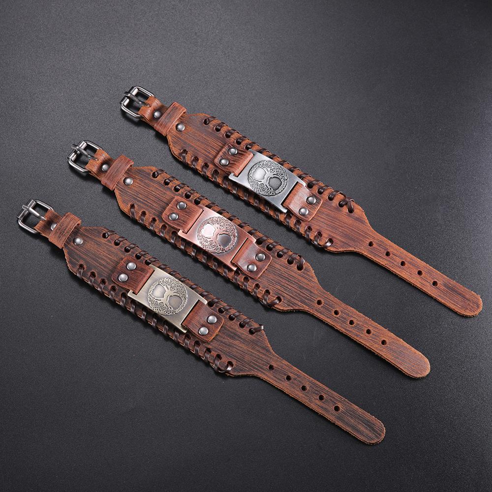 Bracelet en cuir arbre de vie  3