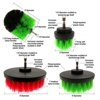 Drill Brush Kit Power Scrubber Brush Scouring Scrub Pads Fit For Bathroom Sale