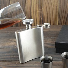 4 5 6 7 8 9 10 oz Liquor Stainless Steel Pocket Hip Flask Screw Cap with Funnel Boy Friend Father Gift