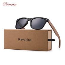 Ravensa-gafas de sol de madera de nogal para hombre y mujer, lentes de sol con espejo, accesorios de marca de diseñador