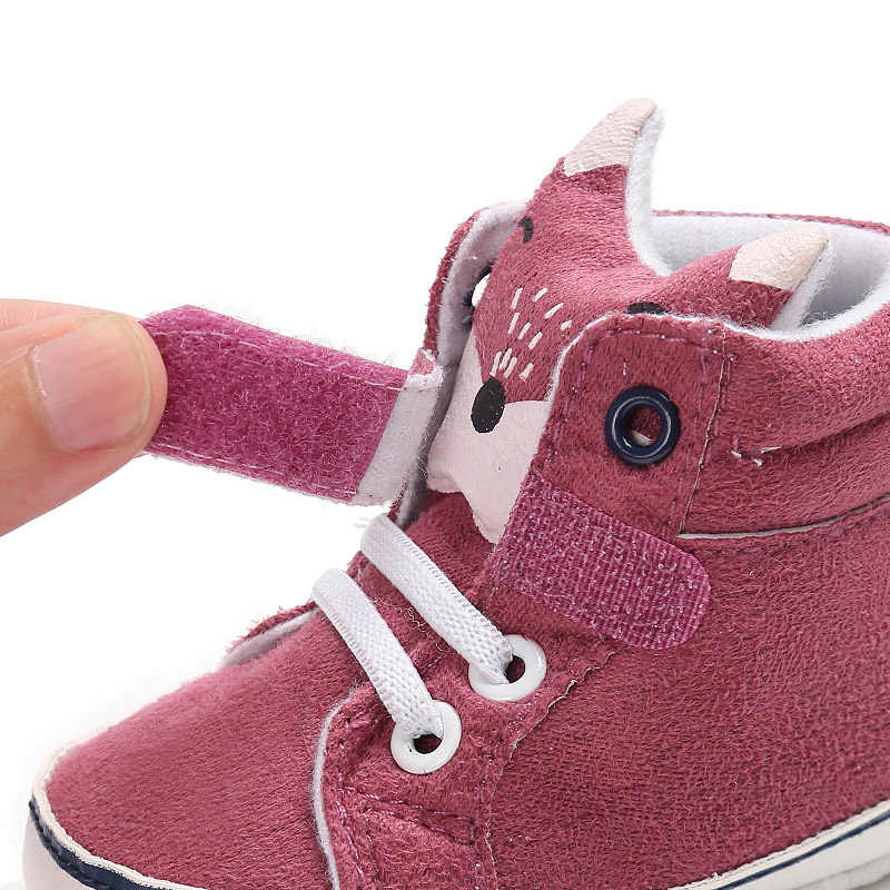 Hoạt Hình Cáo Bé Giày Đế Mềm Sơ Sinh Bé Gái Giày Bé Trai Thu Đông Cotton Trẻ Sơ Sinh Cho Bé Đầu Tiên Xe Tập Đi Schoenen Meisje