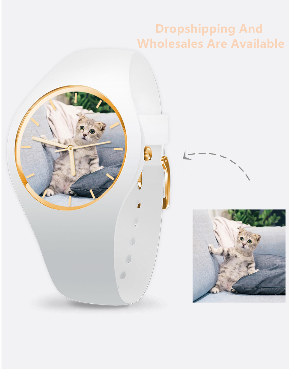 Personalized Photo Silicone Watch,Personalized Photo Watch,Custom Pet Watch,Personalized Custom Pet Watch,Pet Photo Watch