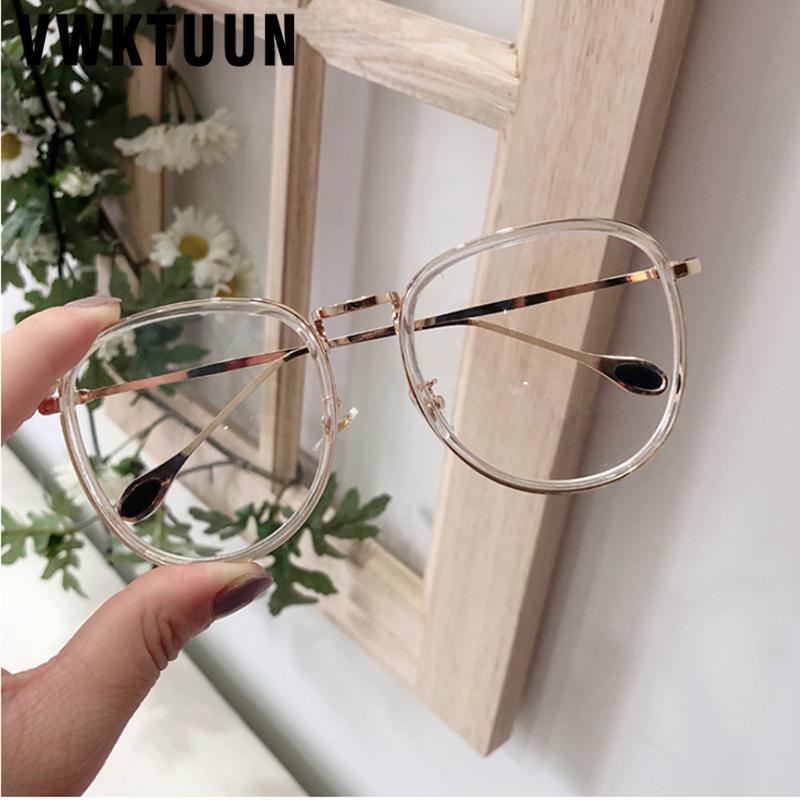 VWKTUUN Transparent Eyeglasses Frames Vintage Optical Frames Vintage Woman Glasses Optical Frames Big Fake Glasses Eyewear