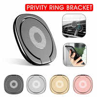 Universal Magnetic Car Mount Holder 360 Degree Rotation Mini Stand Dashboard  180 Degree Spin Phone Ring Bracket GPS Support