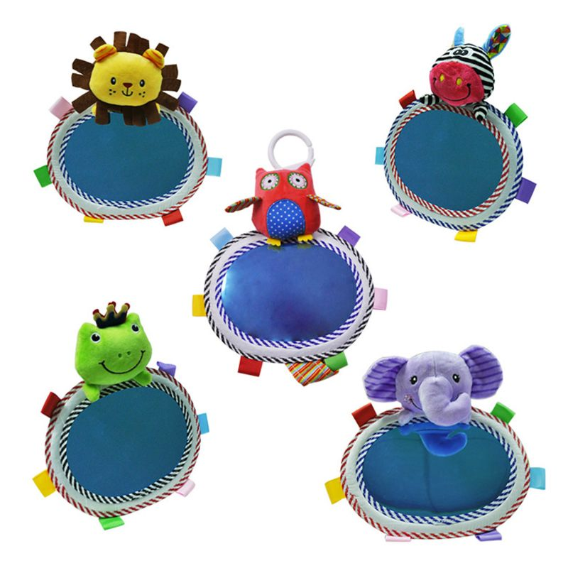 Cartoon Baby Car Rear View Mirror Adjustable Kids Safety Seat Rearview Mirrors 23GD