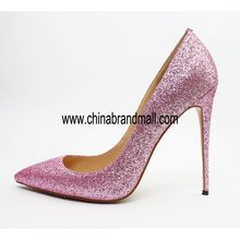 Luxury Designers High Heels Wedding Shoes Sliver Pink Black Gold Glitter Woman High Heel Sexy Shoes Pointed Toe Pumps Women 12cm(China)