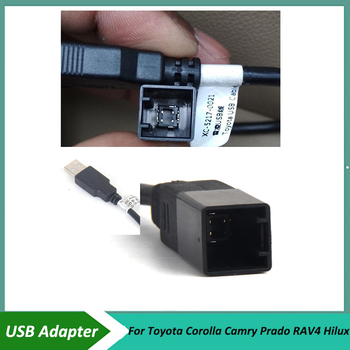 car USB Adapter Connector for Toyota Corolla Camry Prado RAV4 Hilux OEM Car Radio GPS Audio KEEP Original USB image