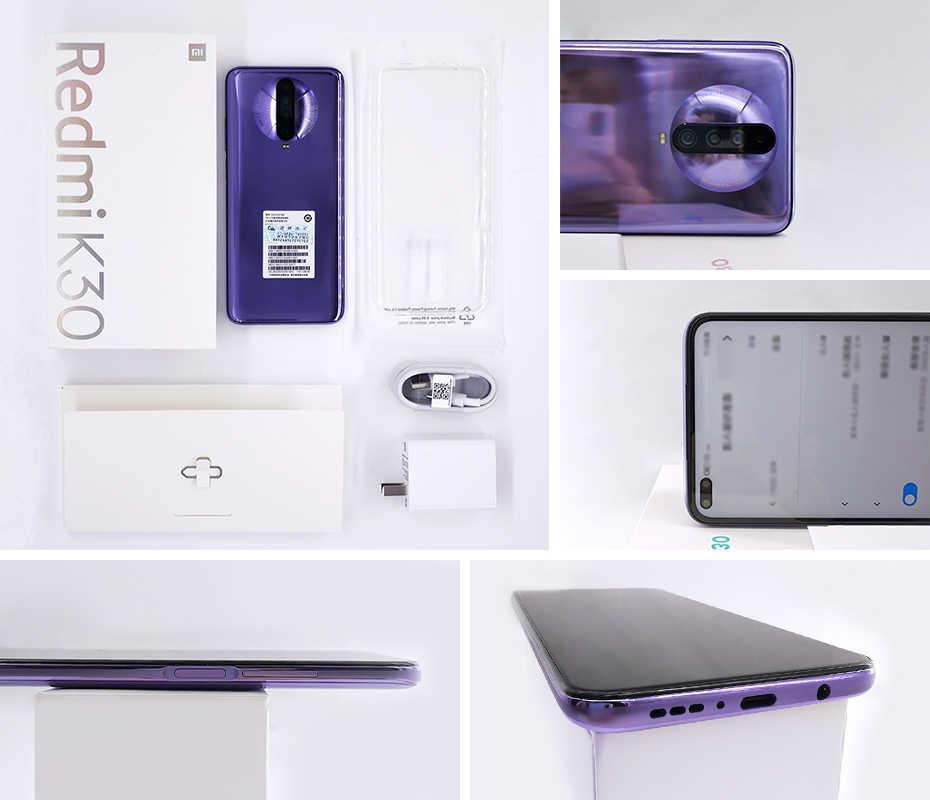 العالمية Rom Xiaomi Redmi K30 4G أنف العجل 730G 6GB 64GB الهاتف الذكي الثماني النواة 64MP رباعية كاميرا 6.67 ''120 HZ السوائل عرض 27W