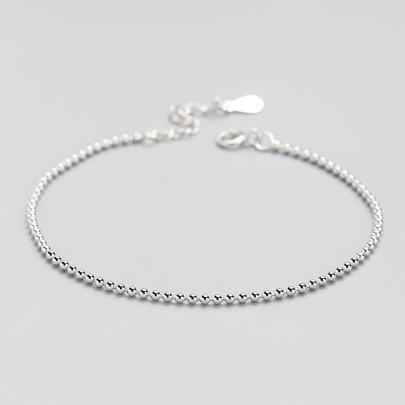 100% 925 Solid Real Sterling Silver Beads 925 Bracelet For Women Wife Girls Lady Fine Silver Jewelry ED63