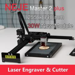 NEJE Master 2 Plus Laser Engraver Laser Cutter CNC Router with 30W Focusable Laser Head Off-line App Control for Wood Leather