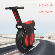 Buy New Electric Unicycle Scooter 500W motorcycle hoverboard a wheel scooter skateboard monowheel Electric Bicycle big wheel occupation