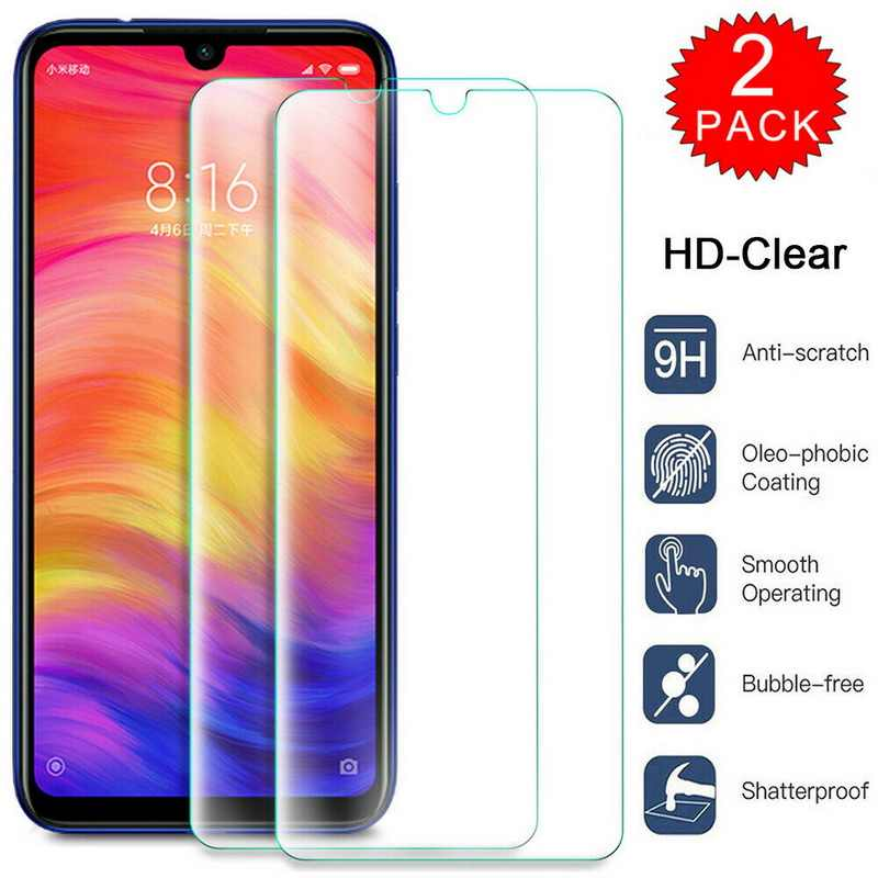 YISAHNGOU 2PCS Tempered Glass Screen Protector For Xiaomi Redmi Note 8 7 Pro HD Clear Tempered Glass Protective Film Front Cover