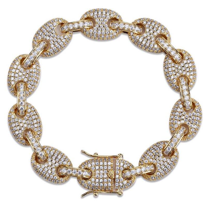 Zlxgirl bijoux de mariée clair AAA cubique zircon cuivre bracelet élégant romantique pave réglage de unisexe cadeau bijoux de mariage