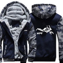 Motorfiets S1000XR Hoodies Winter Camouflage Mouw Jasje Mannen Fleece S 1000 XR S1000 XR Motor Sweatshirts(China)