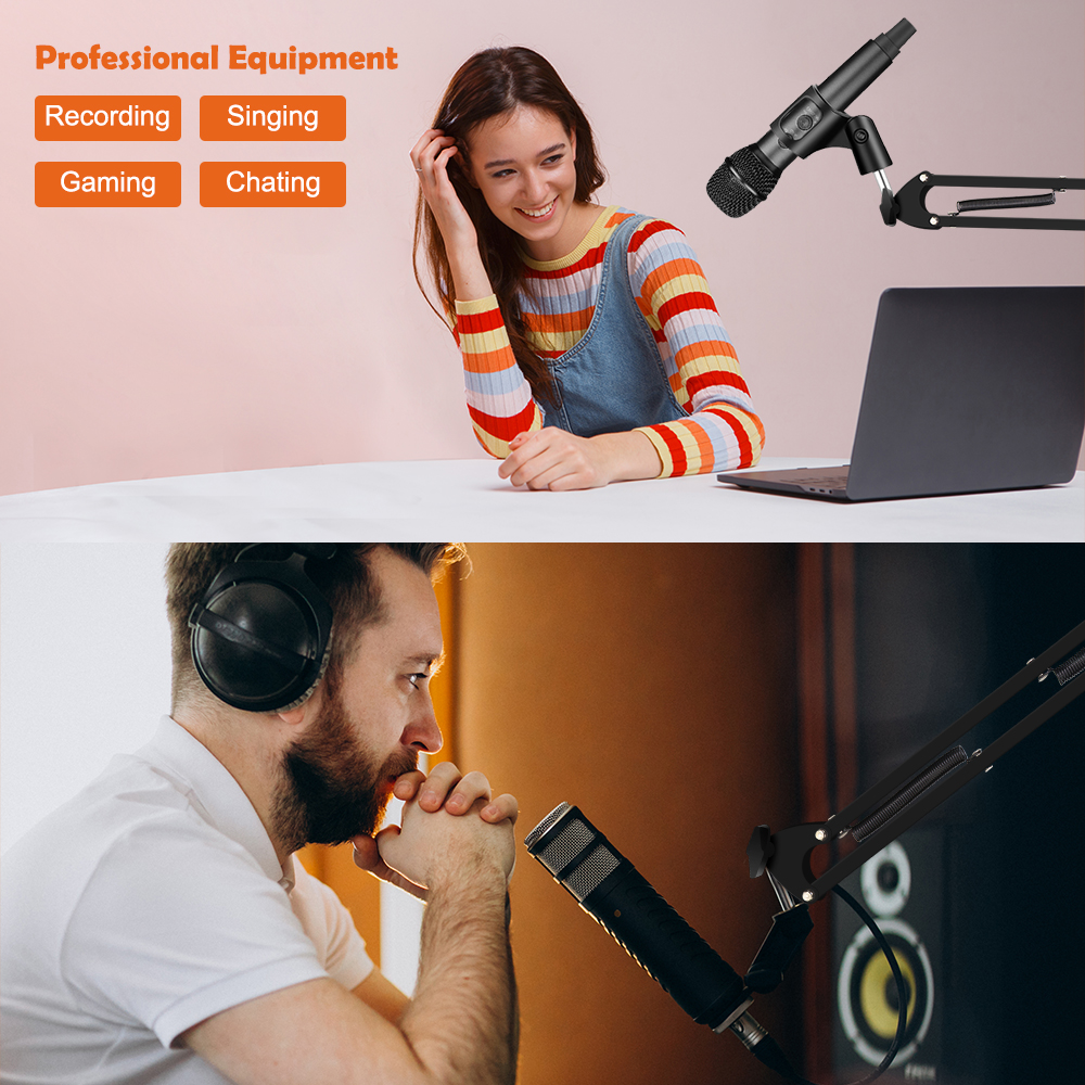2020 New Arrival Microphone Arm Stand Holder Adjustable Suspension Scissor Boom Mic Clip Stand Shock Mount Kit for PC Recording - ANKUX Tech Co., Ltd