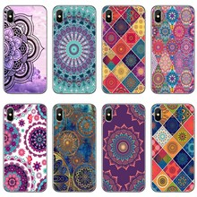 Luxury Blue totem mandala flower For Xiaomi Mi 9 9t CC9 CC9e 8 SE pro lite Redmi note 8 7 7A pro k20 2 3 Phone Case Back Cover(China)