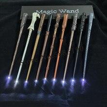 21 tipos de varinhas mágicas cosplay sirius hermione dumbuliduo varinha de luz mágica alta qualidade com embalagem caixa de presente