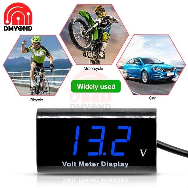 IPX6 0.56 pouces bleu DC 3V-18V LED affichage numérique tension mètre testeur panneau étanche voltmètre pour voiture moto vélo