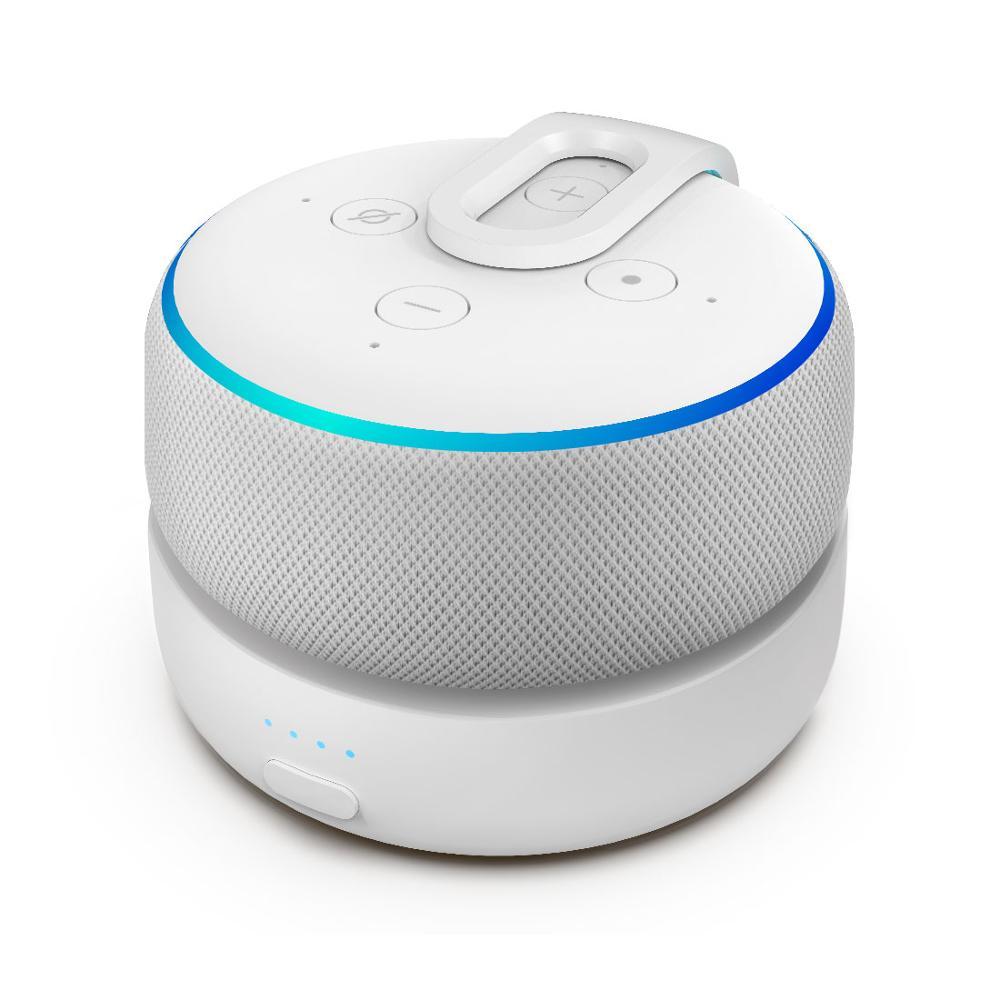GGMM D3 база для батареи для Amazon Echo Dot 3-го поколения смарт-динамик с Alexa перезаряжаемый 5200 мАч большой аккумулятор зарядное устройство с 8 часов ...