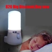 купить LED Night Light Bedside Lamp Wall Socket Lamp EU/US Plug AC 110-220V Home Decoration Lamp For Children Baby Bedroom luminaria X дешево