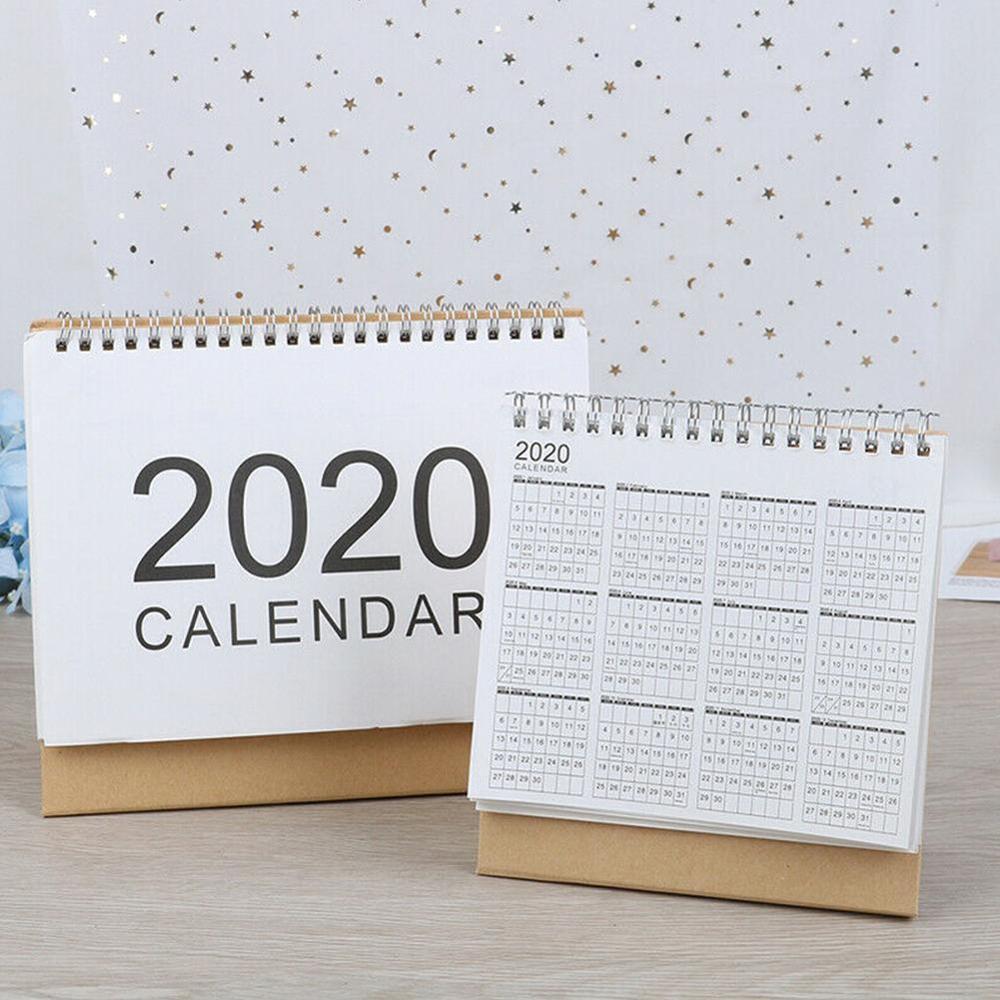 2020 Desktop Wall Calendar Monthly Plan Daily Schedule Planner Kawaii School Supplies