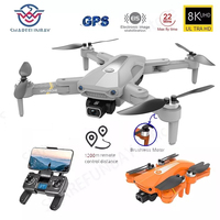 Dron K80 PRO con GPS, 4k, 8K, cámara Dual de HD, fotografía aérea profesional, Motor sin escobillas, Quadcopter plegable RC, distancia de 1,2 km