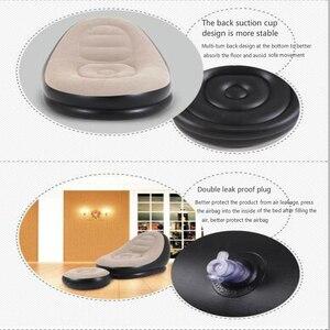 Image 4 - 屋外インフレータブルソファ屋内用小型ソファ怠惰なソファチェア群がっスツールシングルソファベッドラウンジチェア
