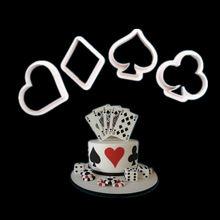 4 шт/компл форма для покерного печенья из нержавеющей стали