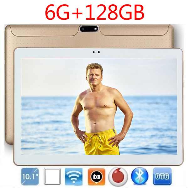 New 1280*800 IPS Screen10 Inch Android 8.0 Tablet 10 Core 6GB RAM 128GB ROM IPS  Dual Cameras 10.1 4G GPS WIFI  Kids Tablets