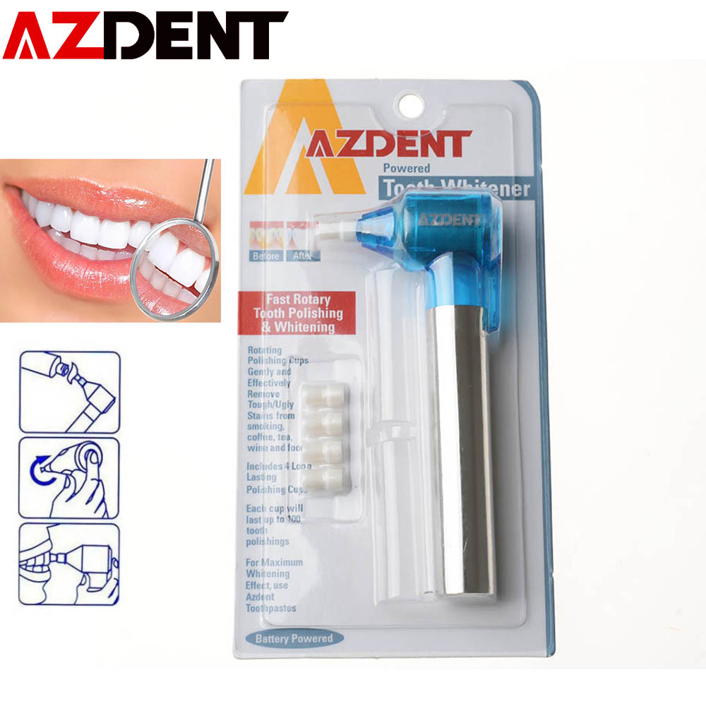 Azdent Tooth Polishing Whitening Teeth Burnisher Polisher Whitener Stain Remove (not include the battery