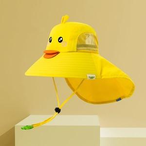 Image 2 - Kocotree bebek erkek kız güneş koruma yüzmek şapka çocuk güneş koruyucu şapka açık havada kap Unisex eğlence yaz kap çocuklar için
