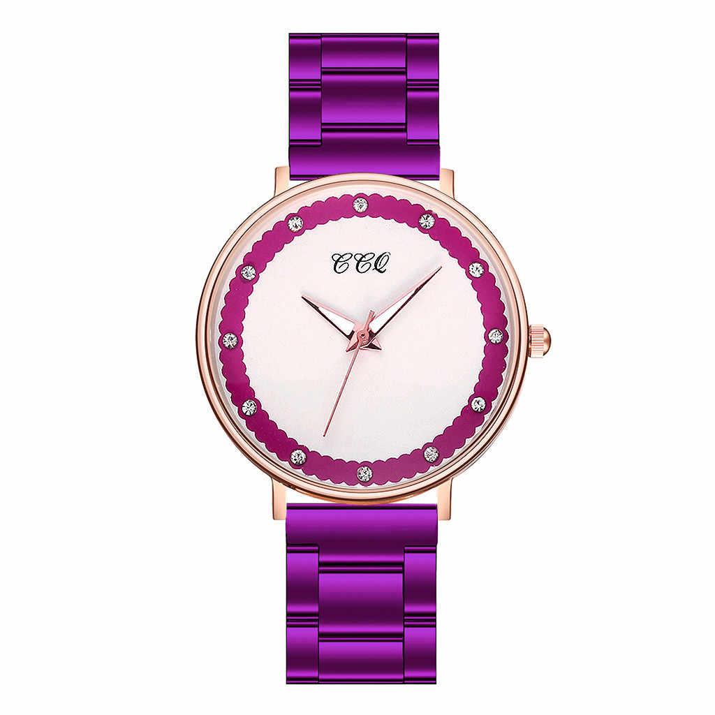 Montres pour femmes 2019 Top marque de luxe charme affaires mode strass cristaux acier Reloj Mujer Zegarek Damski
