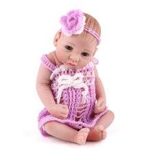 25cm Rebron Baby volle vinly körper Puppe Spielzeug Handgemachte Puppe Lebensechte Babys Mädchen Spielen Haus Spielzeug Für Kind
