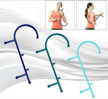 1pc ponto de gatilho auto massagem vara gancho theracane alívio do músculo do corpo original thera cana volta massageador ferramentas terapêuticas