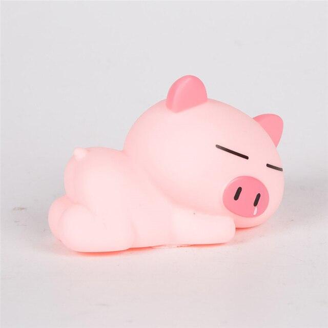 Gâteau de pâtisserie décoration dessin animé   Ornement cochon rose mignon pour dormir un cochon, décoration pour carte danniversaire pour bébé, décoration à brancher