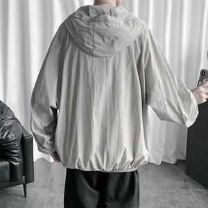 Солнцезащитное тонкое пальто, летняя куртка для мужчин, одноцветная модная мужская одежда, быстросохнущая Повседневная куртка-бомбер для м...