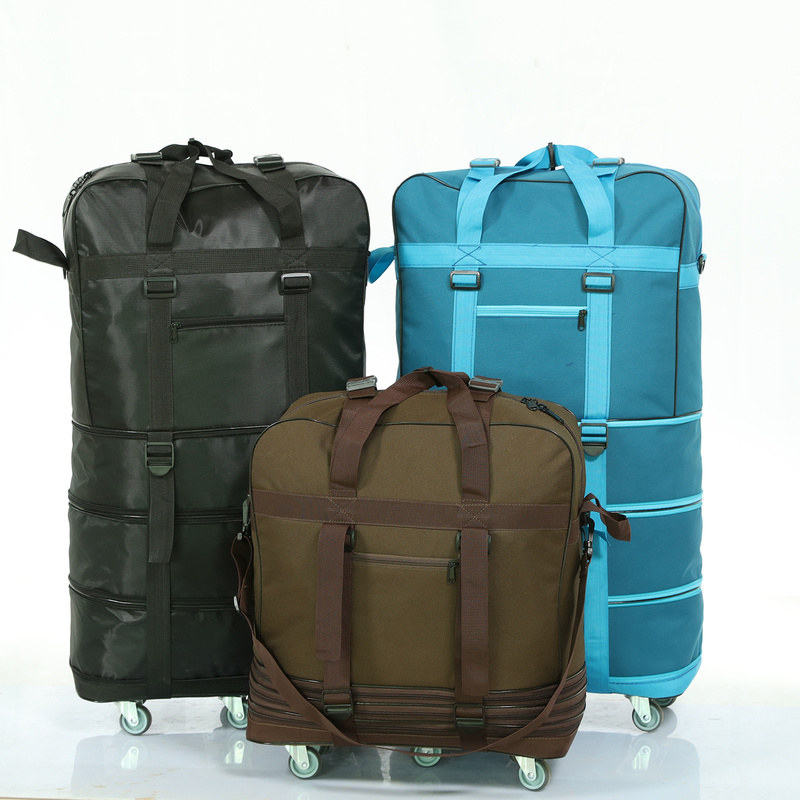 Folding Trolley Case 158 Aviation Consignment Bag With Wheel Travel Bag Large Capacity Oxford Cloth Go Abroad Luggage Bag