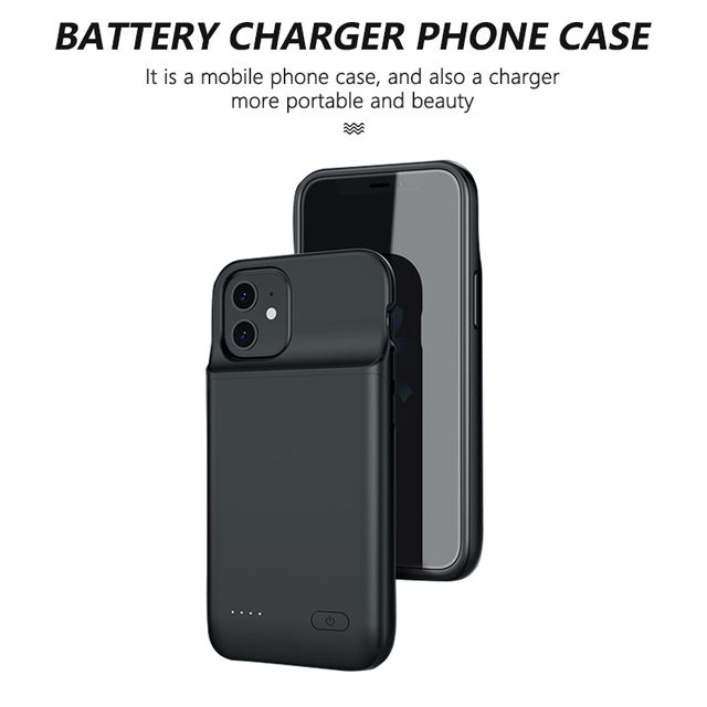 Portable Battery Charger Case for iPhone 12 pro Max 12 mini 12 Power Bank Case External Battery Cover for iPhone 12 12 pro Max 3