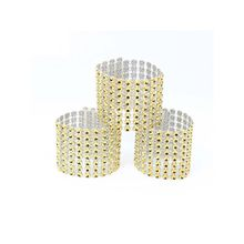 20Pcs/Set 24Kinds Colors Plastic Rhinestone Wrap Napkin Ring Napkin Buckle Hotel Wedding Supplies Home Chair Table Decoration(China)