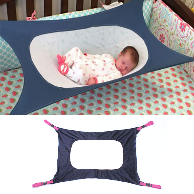 Infant Baby Hammock Swing Newborn Kid Sleeping Bed Safe Detachable Baby Cot Crib Swing Elastic Hammock Adjustable Net Portable