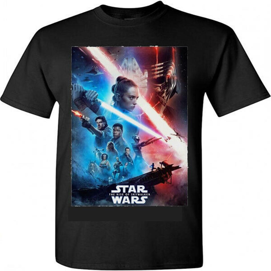 Star Wars Ix Rise Of The Skywalker Movie Poster Red Blue T Shirt S M L Xl 2xl Fitness Slim Male Casual Fashion Tee Shirt T Shirts Aliexpress