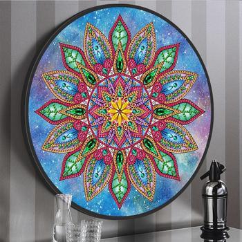 Nuevo estilo de Mandala DIY Mural Tessles diamante pintura punto de cruz 5D diamante bordado hogar pared arte decoración regalo