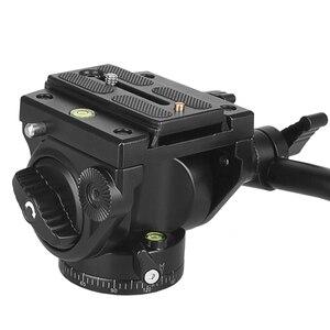 Image 3 - Camera Statief Hoofd 18Kg Belasting Vloeistof Hoofd Aluminium Draaibare Panhead Video Dslr Digitale Camera Professionele Statief Handvat Pan Hoofd