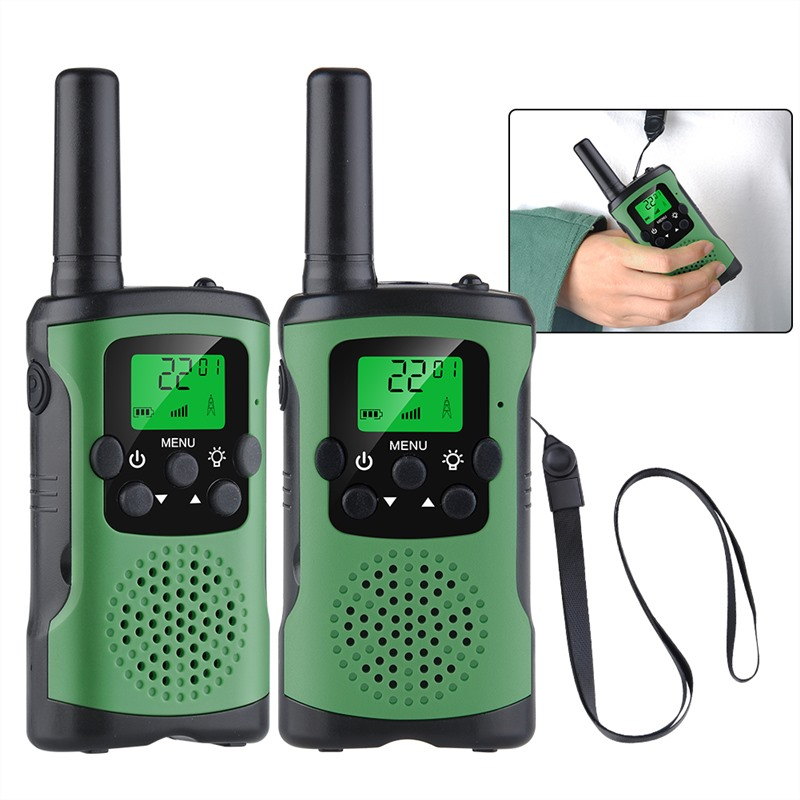 2pcs Kids Walkie Talkies Toy Interphone 8 Channel 2 Way Radio 3 Miles Long Range Handheld Walkie Talkies Durable Toy