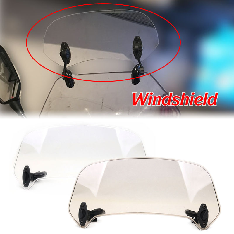 Adjustable Windscreen Windshield Extension Spoiler Wind Deflector Lockable For YAMAHA NMAX <font><b>155</b></font> 125 XMAX 400 300 <font><b>NVX</b></font> <font><b>Aerox</b></font> <font><b>155</b></font> image