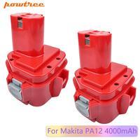 Powtree 12v 12v 4000mAh Ni-MH PA12 batería de baterías de reemplazo para Makita 1220 de 1222 de 1233 1233SA 1233SB 1235 1235A 1235B 192598-2