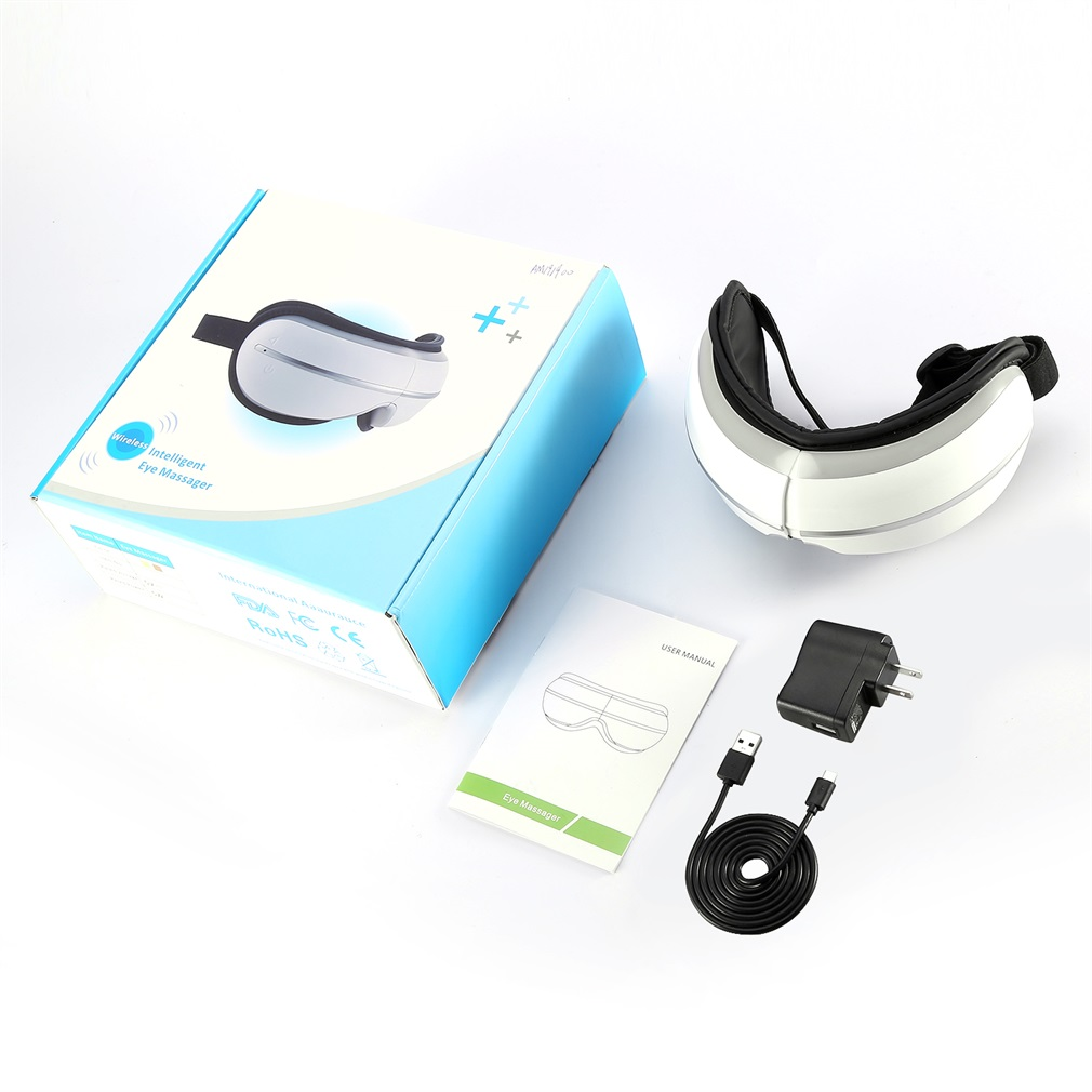 Wireless Digital Eye Massager With Heat Compression And Music Relieves Eye Strain Dry Eyes Sinus Pressure And Headaches