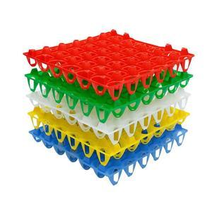 10 sztuk Farm taca na jajka 288*288*48mm taca na jajka transport i przechowywanie jaj recykling tworzywo sztuczne jajko koryta głębokość 36mm